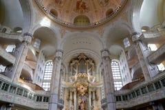 Innenraum des Dresdens Frauenkirche (buchstäblich Kirche unserer Dame) ist eine lutherische Kirche in Dresden Lizenzfreie Stockfotografie