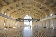 Innenraum des Errichtens von einem Hall, Radio-Kootwijk, die Niederlande stockbilder
