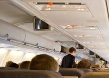 Innenraum des Flugzeuges Stockbilder