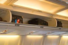 Innenraum des Flugzeuges Stockfoto
