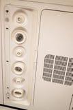 Innenraum des Flugzeuges Seat mit Decken-Knopf Lizenzfreie Stockbilder