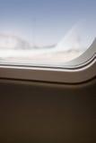 Innenraum des Flugzeuges Seat mit Fenster-Licht Lizenzfreie Stockfotografie