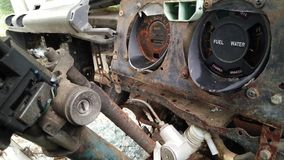 Innenraum des forgotton gebrochenen Autos Lizenzfreie Stockfotos