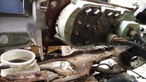 Innenraum des forgotton gebrochenen Autos Stockfoto
