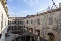 Innenraum des Fort Boyard in Frankreich, Charente-See, Frankreich lizenzfreies stockbild