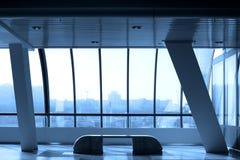Innenraum des futuristischen Gebäudes Stockfoto