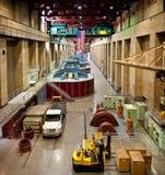 Innenraum des Hooverdamms Stockfotografie