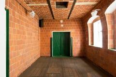 Innenraum des Hopfentrockenraums in Zatec-Stadt Lizenzfreie Stockbilder