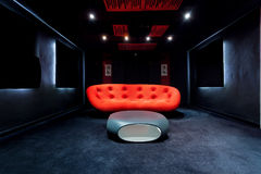 Innenraum des Kinos zu Hause Lizenzfreies Stockbild