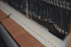 Innenraum des Klaviers Lizenzfreie Stockfotografie