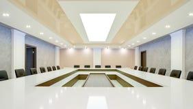 Innenraum des Konferenzsaales für Geschäftsverhandlungen Lizenzfreie Stockfotos