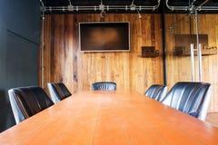 Innenraum des Konferenzzimmers Stockbilder