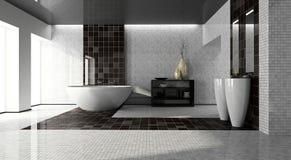 Innenraum des modernen Badezimmers 3D Lizenzfreies Stockbild