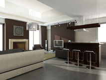 Innenraum des modernen Wohnzimmers Lizenzfreie Stockbilder
