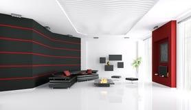Innenraum des modernen Wohnzimmers Lizenzfreies Stockfoto
