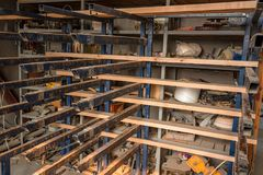 Innenraum des modernen woodshop stockfotos