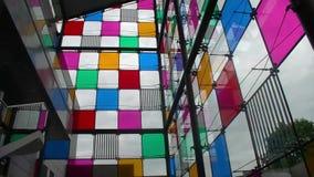 Innenraum des Museums der zeitgenössischer Kunst von Straßburg stock video