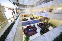 Innenraum des neuen Jahres in der Lobby des Präsidenten Hotel Lizenzfreies Stockfoto