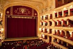 Innenraum des Odessa-Opern- und -balletthauses lizenzfreie stockfotografie