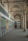 Innenraum des orientalischen Palastes Stockbild