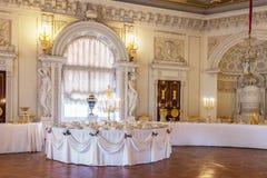 Innenraum des Pavlovsk-Palastes, russischer Kaiserwohnsitz, nea Stockfotografie