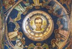 Innenraum des Retters auf Blut Mosaik südöstlichen Haube ` Badekurort-Emmanuel-`, Christus in der Adoleszenz, Lizenzfreie Stockbilder