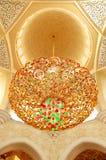 Innenraum des Scheichs Zayed Grand Mosque Stockfotos