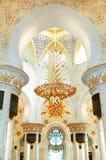 Innenraum des Scheichs Zayed Grand Mosque Stockfoto
