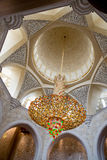 Innenraum des Scheichs Zayed Grand Mosque Stockfoto