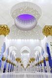Innenraum des Scheichs Zayed Mosque, Abu Dhabi Lizenzfreie Stockbilder