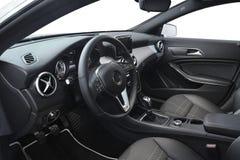 Innenraum des Sportwagens Stockbild