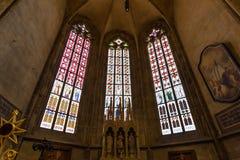 Innenraum des St. Vitus, Wenceslaus und Adalbert Cathedral, Prag lizenzfreies stockbild