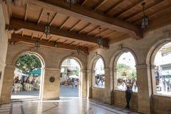 Innenraum des venetianischen Häuschens stockfoto