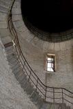 Innenraum des verlassenen Kontrollturms Lizenzfreies Stockfoto
