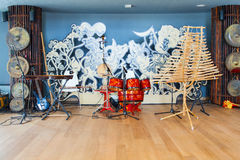 Innenraum des vietnamesischen Pavillons an Ausstellung 2015, Mailand Lizenzfreie Stockfotografie