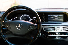 Innenraum (Designo) von benutztem Mercedes-Benz S-klasses350 lang (W221 Stockbild