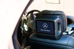 Innenraum (Designo) von benutztem Mercedes-Benz S-klasses350 lang (W221 Lizenzfreie Stockfotos