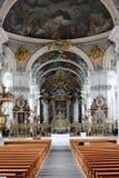 Innenraum die Abtei der Heilig-Abschürfung Stockfoto