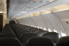 Innenraum ein leeres Flugzeug Lizenzfreie Stockbilder