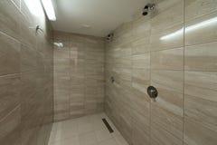 Innenraum einer Duschkabine Stockfotografie