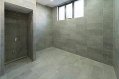 Innenraum einer Duschkabine Lizenzfreies Stockbild