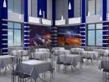 Innenraum einer Halle von Kaffee Lizenzfreie Stockfotos