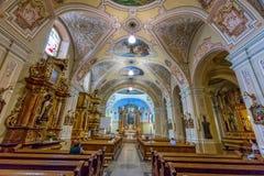 Innenraum in einer Kirche in der Stadt Pecs von Ungarn, (Kirchen-St. Franci lizenzfreie stockbilder