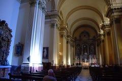 Innenraum einer Kirche in Sevilla 1 Stockfotos