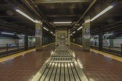 Innenraum einer U-Bahnstation Stockbilder