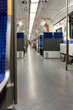 Innenraum einer Zugpersonenbeförderung Stockbild