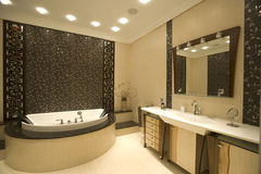 Innenraum eines Badezimmers Stockbild