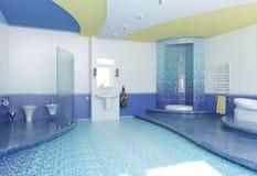 Innenraum eines Badezimmers Lizenzfreies Stockbild