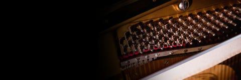 Innenraum eines Klaviers Lizenzfreie Stockfotos
