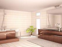 Innenraum eines modernen Badezimmers Lizenzfreies Stockbild